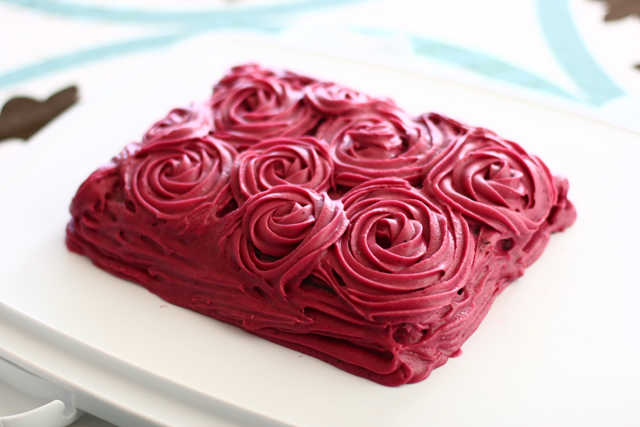 Chocolate Cake with Blackberry Buttercream Frosting - Alyssa B ...